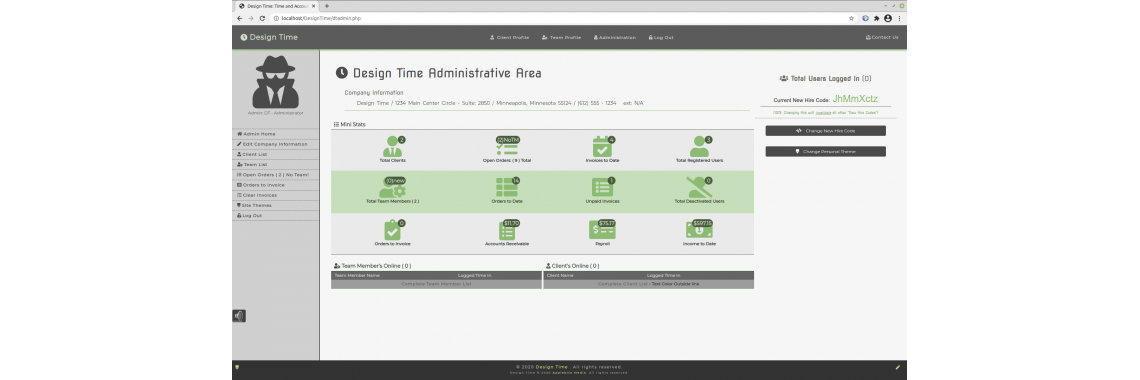 Design Time - Administrative Area